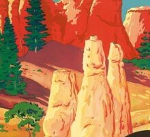 Vintage Travel Poster - Bryce Canyon, Utah Sticker