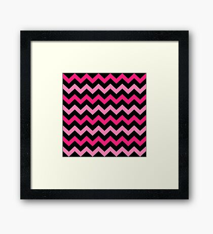 Fashion Zigzag pattern Vector background Framed Print