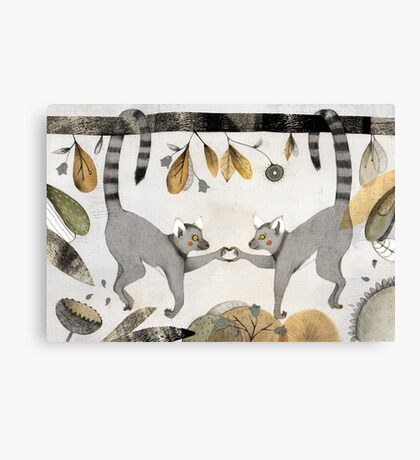 Lemurs In Love Canvas Print