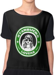 all the lonely starbucks lovers Chiffon Top