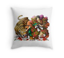 one piece kabuki luffy Throw Pillow