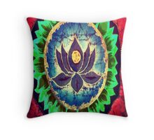 Psychedelic Lotus Throw Pillow