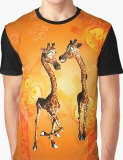 Funny cartoon giraffe Graphic T-Shirt
