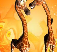 Funny cartoon giraffe Sticker
