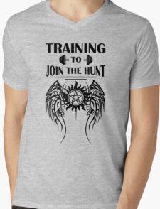 Training To Join The Hunt. SPN. Supernatural. Dean Winchester. Sam Winchester Mens V-Neck T-Shirt