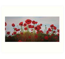 Painted Poppy Field Art Print