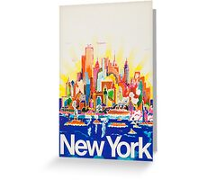 Vintage Travel Poster - New York Greeting Card