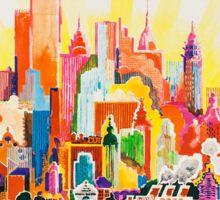 Vintage Travel Poster - New York Sticker
