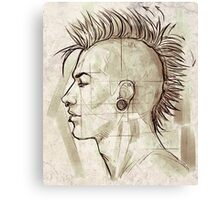 Anatomy Of A Punk Rocker Canvas Print