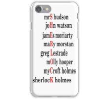 Sherlock acrostic  iPhone Case/Skin