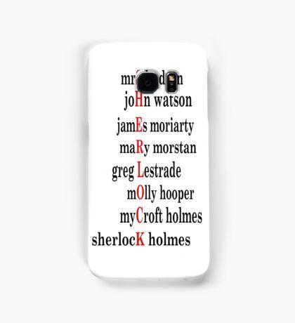 Sherlock acrostic  Samsung Galaxy Case/Skin