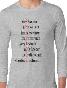 Sherlock acrostic  Long Sleeve T-Shirt