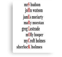 Sherlock acrostic  Canvas Print