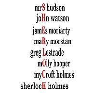 Sherlock acrostic  Photographic Print