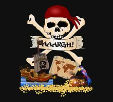 Pirate Icons - Jolly Roger, Treasure Chest, Pirate Ship Unisex T-Shirt