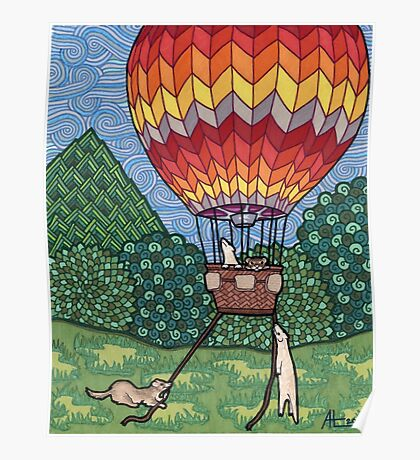 Ferret Hot Air Balloon Ride Poster