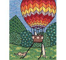 Ferret Hot Air Balloon Ride Photographic Print