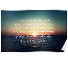 Percy Jackson Prophecy Sunset Poster