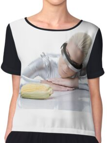 cyber woman with corn Chiffon Top
