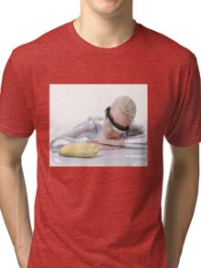 cyber woman with corn Tri-blend T-Shirt