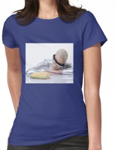 cyber woman with corn Womens Fitted T-Shirt