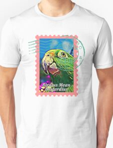 Yellow-crowned amazon PSYCHEDELIC POSTAGE STAMP T-Shirt