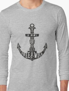 Anchor With Quote Long Sleeve T-Shirt
