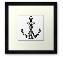 Anchor With Quote Framed Print