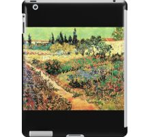 'Flowering Garden With Path' by Vincent Van Gogh (Reproduction) iPad Case/Skin