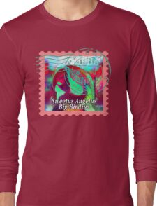 MACAW PSYCHEDELIC POSTAGE STAMP Long Sleeve T-Shirt