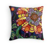 Psychedelic Flower Throw Pillow