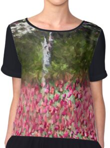 Dogwood and Blooms Chiffon Top