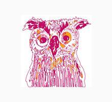 Pink/Orange Owl Design Unisex T-Shirt