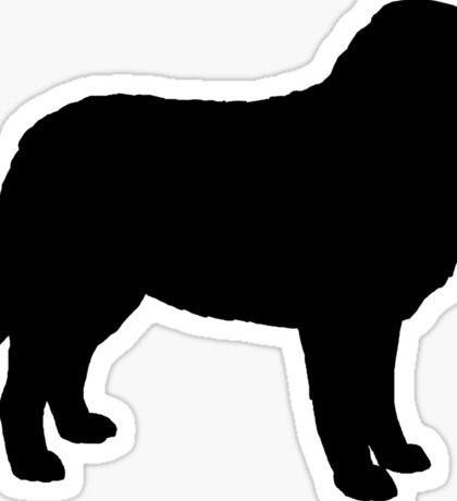 Bernese Mountain Dog Silhouette(s) Sticker