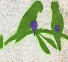 Parrots-square  Sticker