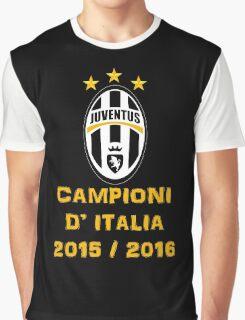 Juventus Campione d'Italia 2015 2016 Graphic T-Shirt