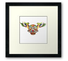 Flying Sugar Skull Framed Print