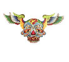 Flying Sugar Skull Photographic Print