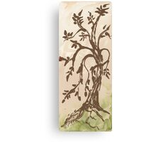 Young Willow Tree, Going With the Flow Canvas Print