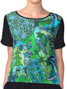 Space - Are We There Yet? Chiffon Top