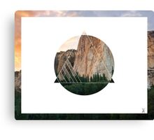 Abstract Geometric Cliff Canvas Print