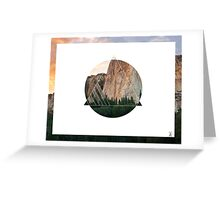 Abstract Geometric Cliff Greeting Card