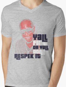 Respek It Mens V-Neck T-Shirt