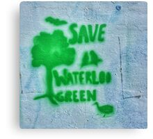 Save the Green Canvas Print