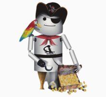 Robo-x9 Pirate with Treasure Chest Kids Tee