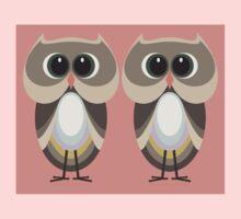 OWLISH OWL TWINS Baby Tee