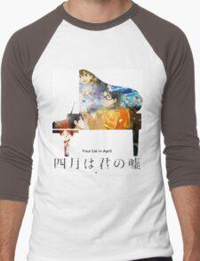 Your Lie in April Men's Baseball ¾ T-Shirt