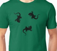 3 Lizards Geckos Art Design Unisex T-Shirt