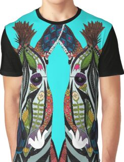 zebra love turquoise Graphic T-Shirt