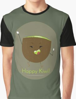 Moody Fruits: Happy Kiwi! Graphic T-Shirt